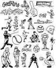 Unmounted Rubber Stamps Sheets, Sports Stamps, Baseball Stamps, Scrapbook Stamps