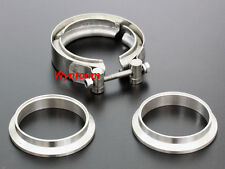 """3"""" V Band Stainless Steel Kit Turbo Downpipe Exhaust Catalytic Flange Clamp Pipe"""