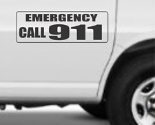 "EMERGENCY CALL 911 Magnetic Signs for Car Truck SUV 6""x18"""
