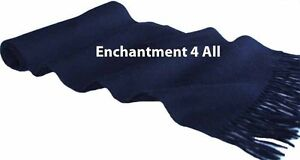 """NEW CLASSIC 70""""X11"""" 100% 2-PLY PURE CASHMERE MEN NECK SCARF MUFFLER, NAVY BLUE"""