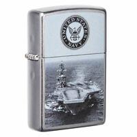 Zippo U.S. Navy Aircraft Carrier Street Chrome Pocket Lighter, 49319