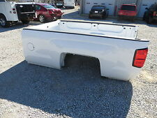15 SILVERADO TRUCK BED LONG 8' BOX WHITE FACTORY PULL OFF 2015 GM LT LTZ