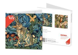 Tapestry Wildlife Notelet Card Wallet – 8 William Morris Art Cards in 2 designs