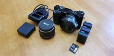 Sony Alpha α6000 24.3MP Camera - Black - with 16-50mm kit lens and Meke 35mm
