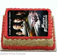 Cake topper edible image icing Fast & furious REAL FONDANT