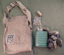 WWI / WW1 U.S. Army Gas Mask Set, Hand Painted 80th Division Insignia, Named