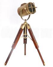 Small Desk Lamp Antique Finish Spot Light Brown Stand Home Decor
