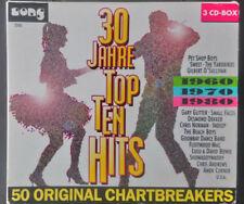 30 Jahre Top Ten Hits 1960/1970/1980 - 50 Chartbreaker -  3 CDs