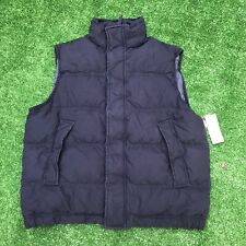 Polo Ralph Lauren Denim and Supply Mens Navy Goose Down Puffer Vest New Sz Large