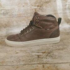 Vans Alomar Duckhunt hitop leather trainers Brown / White UK 7 US Men 8 EUR 40.5