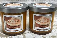 Kringle Candle Company  PUMPKIN FROSTING COLORED GLASS CANDLE SET OF 2