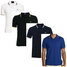 Fred Perry Polo Shirt Twin Tipped Short Sleeve