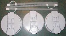 3-Granite Replacement Lids and 3-Straws for the 32 oz Hospital mugs
