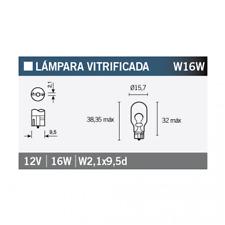 Glühlampe Glühbirne Lampe Leuchtmittel OSRAM 921 W16W 1 Stück
