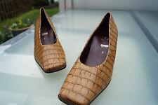 HÖGL softline comfort weite Damen Schuhe Pumps High Heels Gr.7 40,5 leder TOP#1k