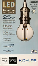 Kichler Decorative Collection 25-Watt Clear G16.5 LED Bulb w/Standard Base - NEW