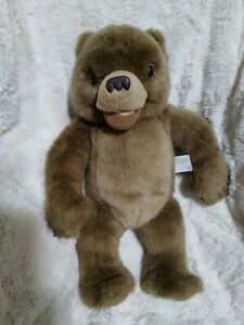"1998 KIDPOWER 14"" Plush TALKING LITTLE BEAR Laughs MAURICE SENDAK Stuffed Vtg"