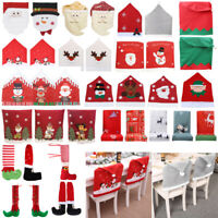 Christmas Decoration Chair Covers Dining Seat Santa Claus Home Xmas Party Decor