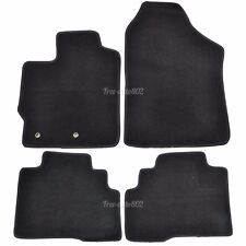 Fit 07-12 Toyota Yaris 4Dr Black Nylon OEM Front&Rear Cutting Floor Mats Carpet