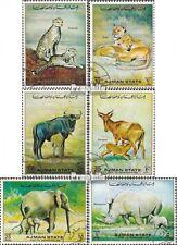 Ajman 1405-1410 (kompl.Ausg.) gestempelt 1972 Afrikanische Tierwelt: Muttertiere