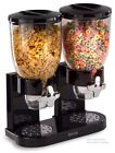 Cereal Dispenser Food Storage Container Dual Canister Dry Snack Candy Nut 17.5oz