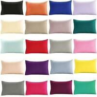 100% EGYPTIAN COTTON HOUSEWIFE PILLOW CASES 200 THREAD COUNT PILLOW COVERS
