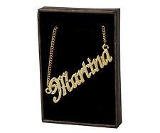 18k Plateó la Collar de Oro Con el Nombre - MARTINA - Regalos Para las Mujeres