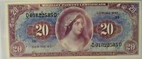 Series 691 MPC $20 Military Payment Certificate Twenty Dollars uncirculated