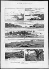 1883 ANTIQUE PRINT-Australie Nouvelle-Guinée Ethel Port Moresby Fairfax (189)