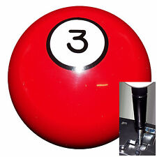 3 Ball Billiard shift knob w/ black adapter for automatic shifters See desc.