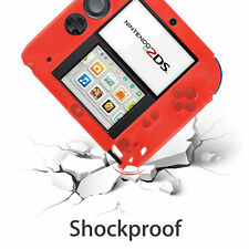 Nintendo 2DS Protective Red Soft Silicone Rubber Gel Skin Case Cover Skin US