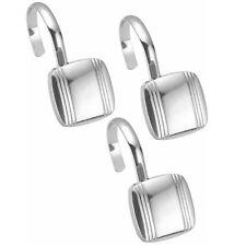 Hagan Chrome Metal Shower Curtain Hook Set of 12