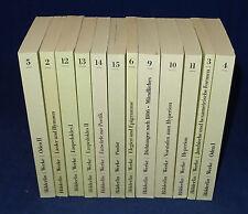 Konvolut 12 Bücher Friedrich Hölderlin - Sämtliche Werke Kritische Textausgabe