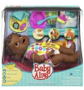 Baby Alive Changing Time Doll Drinks Wets Interactive Move 2010 Rare Retired HTF