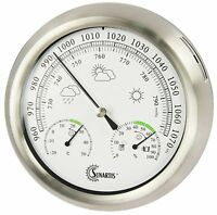 Outdoor Indoor Weather Station Barometer Stainless Steel Quality Instrument