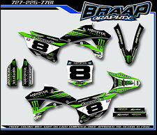 Kawasaki KX-85 2014-2015-2016-2017 Monster Energy Graphics Decal Kit