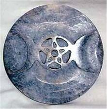 Triple Moon and Pentagram Soapstone Altar Tile!