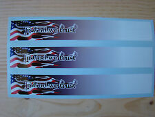 CARBON arrow wraps AMERICAN FLAG FLAME FADE IN GOD WE TRUST 13 PACK