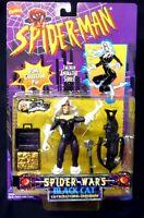Spider-Wars Black Cat Action Figure New 1996 Spider-man Toy Biz Marvel Amricons