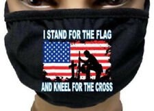Fashion Face Mask - I Stand for the Flag And Kneel for the Cross US Flag Mask