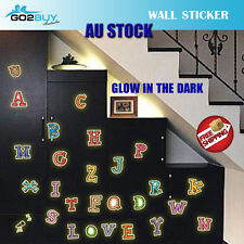 A-Z Colorful letters Alphabet Glow In The Dark Kids Wall Stickers