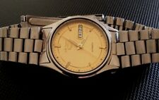 STUNNING VINTAGE SEIKO 5 7S26 AUTOMATIC GOLD FACE 21 JEWELS MENS WATCH