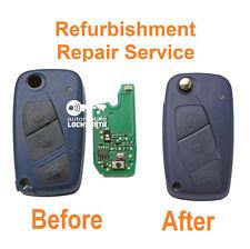 REPAIR SERVICE for Fiat Punto Ducato 3 button remote flip key refurbishment fix