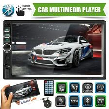 7'' Car Radio Stereo 2DIN Bluetooth FM AUX USB MP5 Player Touch Screen + Camera