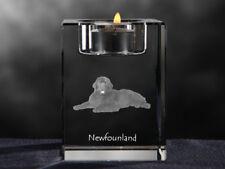 Neufundländer, Kristall-Kerzenleuchter mit Hund, Crystal Animals CH
