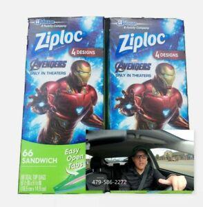 Star Wars Ziploc Sandwich Bags Seal  4 Designs 2  66 Ct Boxes