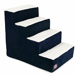 4 Step Portable Pet Stairs By Majestic Pet Products Villa Navy Blue Steps for...