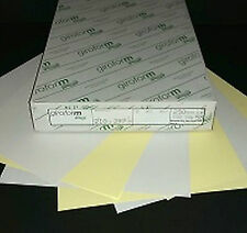80 gsm Giroform NCR Paper A4 2 Part Sets - White and Pink, Yellow, Green or Blue