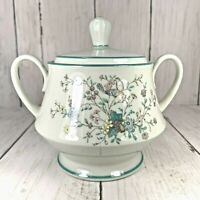 Noritake Paradise Green 8223 / W80 Sugar Bowl and Lid Japan Floral Bird Paradise