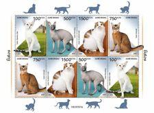 More details for guinea-bissau cats stamps 2020 mnh somali scottish fold donskoy cat 8v m/s